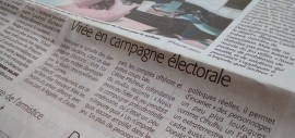 Apparition d'  » Elections : Vote for me!  » dans le Midi Libre !